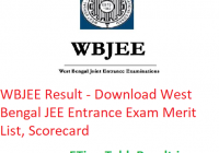 WBJEE Result 2019 - Download West Bengal JEE Entrance Exam Merit List, Scorecard