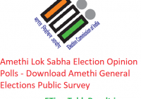 Amethi Lok Sabha Election 2019 Opinion Polls - Download Amethi General Elections Public Survey