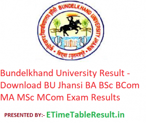 Bundelkhand University Result 2019 - Download BU Jhansi BA BSc BCom MA MSc MCom Exam Results