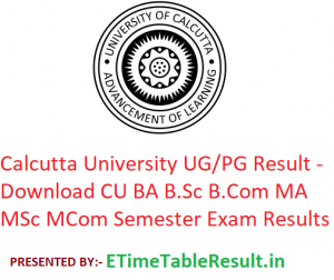 Calcutta University Result 2019 - Download CU BA B.Sc B.Com MA M.Sc M.Com Semester Exam Results
