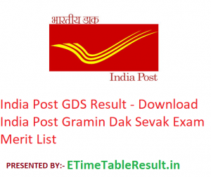 India Post GDS Result 2019 - Download Gramin Dak Sevak Merit List