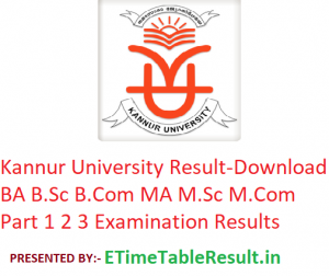 Kannur University Result 2019 - Download BA B.Sc B.Com MA M.Sc M.Com Part 1 2 3 Exam Results
