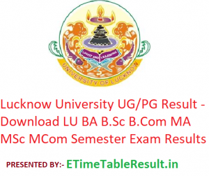 Lucknow University Result 2019 - Download LU UG/PG Annual Semester Exam Results