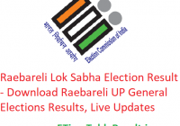 Raebareli Lok Sabha Election Result 2019 - Download Raebareli General Elections Results, Live Updates