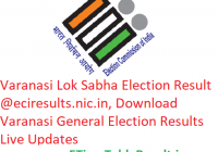 Varanasi Lok Sabha Election Result 2019 @eciresults.nic.in, Download Varanasi General Elections Results Live Updates