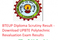 BTEUP Diploma Scrutiny Result 2019 - Download UPBTE Polytechnic Revaluation Exam Results