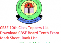 CBSE 10th Class Toppers List 2019 - Download CBSE Board Tenth Exam Marksheet, Rank List