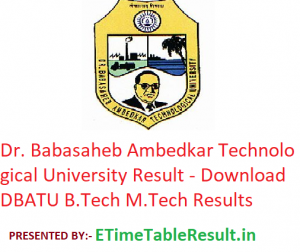 Dr. Babasaheb Ambedkar Technological University Result 2019 - Download DBATU B.Tech M.Tech & Diploma Exam Results
