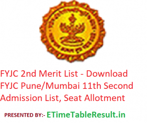 FYJC 2nd Merit List 2019 - Download FYJC Pune/Mumbai 11th Second Admission List, Seat Allotment Schedule
