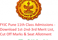 FYJC Pune 11th Admissions 2019 - Download 1st-2nd-3rd Merit List, CutOff @mumbai.11thadmission.net