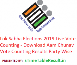 Lok Sabha Elections 2019 Live Vote Counting - Download Aam Chunav Vote Counting Results Party Wise