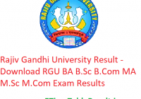 Rajiv Gandhi University Result 2019 - Download BA B.Sc B.Com MA M.Sc M.Com Exam Results