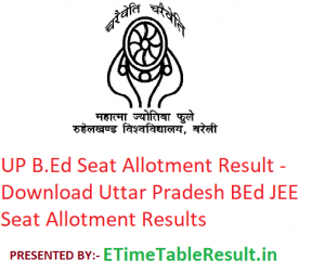 UP B.Ed Seat Allotment Result 2019 - Download Uttar Pradesh BEd JEE Seat Allotment Results
