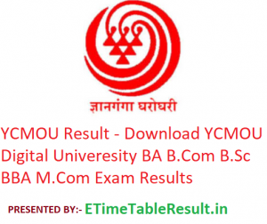 YCMOU Result 2019 - Download BA B.Com BCA M.Com Exam Results