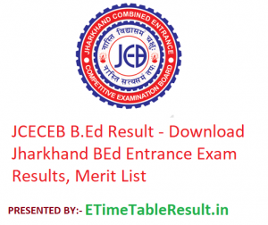 JCECEB B.Ed Result 2019 - Download Jharkhand BEd Entrance Exam Results, Merit List
