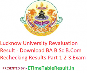 Lucknow University Revaluation Result 2019 - Download BA B.Sc B.Com Rechecking Results 1st-2nd-3rd Year LU