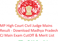 MP High Court Civil Judge Mains Result 2019 - Download Madhya Pradesh CJ Main Exam CutOff & Merit List