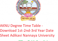AKNU Degree Time Table 2020 - Download 1st-2nd-3rd Year Date Sheet Adikavi Nannaya University