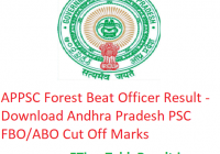 APPSC Forest Beat Officer Result 2019 - Download Andhra Pradesh PSC FBO/ABO Cut Off Marks