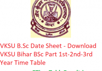 VKSU B.Sc Date Sheet 2020 - Download VKSU Bihar BSc Part 1st-2nd-3rd Year Time Table