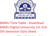 BAMU Time Table 2019-20 - Download BAMU Digital University 1st-3rd-5th Semester Date Sheet