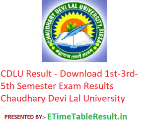 CDLU Result 2019-20 - Download 1st-3rd-5th Semester Exam Results Chaudhary Devi Lal University