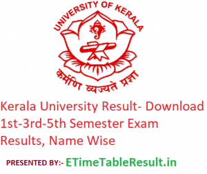 Kerala University Result 2019-20 - Download 1st-3rd-5th Semester Exam Results, Name Wise