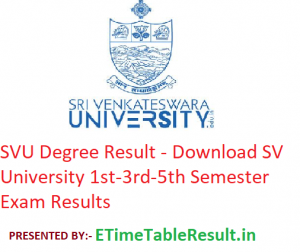 SVU Degree Result 2019-20 - Download SV University 1st-3rd-5th Semester Exam Results