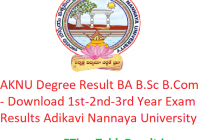 AKNU Degree Result 2020 BA B.Sc B.Com - Download 1st-2nd-3rd Year Exam Results Adikavi Nannaya University