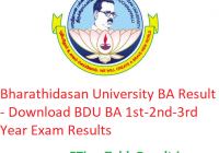 Bharathidasan University BA Result 2020 - Download BDU BA 1st-2nd-3rd Year Exam Results