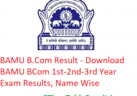 BAMU B.Com Result 2020 - Download BAMU BCom 1st-2nd-3rd Year Exam Results, Name Wise