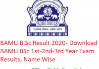 BAMU B.Sc Result 2020 - Download BAMU BSc 1st-2nd-3rd Year Exam Results, Name Wise