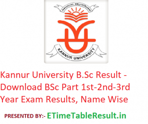 Kannur University B.Sc Result 2020 - Download BSc Part 1st-2nd-3rd Year Exam Results, Name Wise