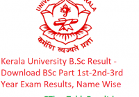 Kerala University B.Sc Result 2020 - Download BSc Part 1st-2nd-3rd Year Exam Results, Name Wise