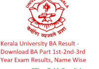 Kerala University BA Result 2020 - Download BA Part 1st-2nd-3rd Year Exam Results, Name Wise