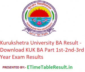 Kurukshetra University BA Result 2020 - Download KUK BA Part 1st-2nd-3rd Year Exam Results