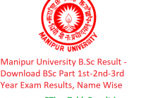 Manipur University B.Sc Result 2020 - Download BSc Part 1st-2nd-3rd Year Exam Results, Name Wise