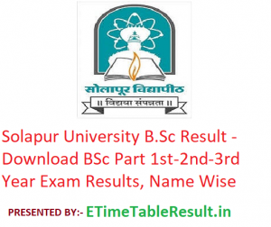 Solapur University B.Sc Result 2020 - Download BSc Part 1st-2nd-3rd Year Exam Results, Name Wise