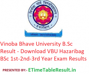 Vinoba Bhave University B.Sc Result 2020 - Download VBU Hazaribag BSc 1st-2nd-3rd Year Exam Results