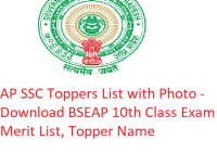 AP SSC Toppers List 2020 with Photo - Download BSEAP 10th Class Exam Merit List, Topper Name