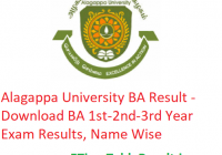 Alagappa University BA Result 2020 - Download BA 1st-2nd-3rd Year Exam Results, Name Wise