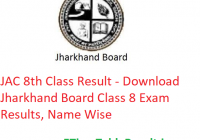 JAC 8th Class Result 2020 - Download Jharkhand Board Class 8 Exam Results, Name Wise
