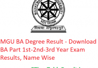 MGU BA Degree Result 2020 - Download BA Part 1st-2nd-3rd Year Exam Results, Name Wise