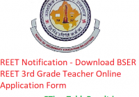 REET Notification 2020 - Download BSER REET 3rd Grade Teacher Online Application Form