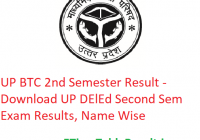 UP BTC 2nd Semester Result 2020 - Download UP DElEd Second Sem Exam Results, Name Wise