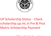 UP Scholarship Status 2020 - Check scholarship.up.nic.in Pre & Post Matric Scholarship Payment