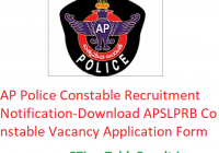 AP Police Constable Recruitment 2020 Notification - Download APSLPRB 12000 Constables Vacancies Application Form