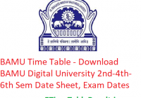 BAMU Time Table 2020 - Download BAMU Digital University 2nd-4th-6th Semester Date Sheet, Exam Dates