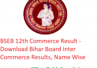 BSEB 12th Commerce Result 2020 - Download परिणाम Bihar Board Intermediate Commerce Results, Name Wise