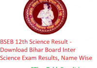 BSEB 12th Science Result 2020 - Download रिजल्ट लिंक Bihar Board Inter Science Exam Results, Name Wise